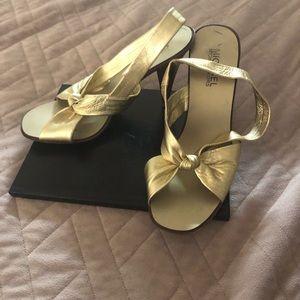 Michael Kors Gold Sandals